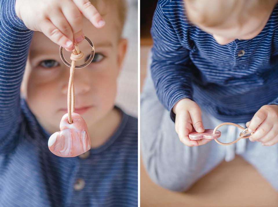 DIY Herz-Schlüsselanhänger im Marmorlook